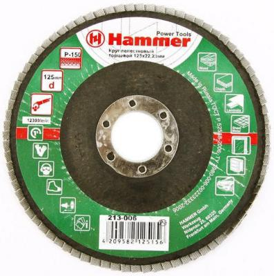 Лепестковый круг 125 Х 22 Р 150 тип 1 КЛТ Hammer Flex 213-006 Круг лепестковый торцевой 125 х 22 р 80 тип 1 клт hammer flex 213 009 круг лепестковый торцевой