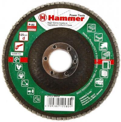 Лепестковый круг 125 Х 22 Р 80 тип 1 КЛТ Hammer Flex 213-009 Круг лепестковый торцевой 125 х 22 р 80 тип 1 клт hammer flex 213 009 круг лепестковый торцевой