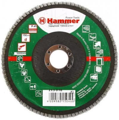 Лепестковый круг 150 Х 22 Р 40 тип 1 КЛТ Hammer Flex 213-010 Круг лепестковый торцевой 125 х 22 р 60 тип 1 клт hammer flex 213 008 круг лепестковый торцевой