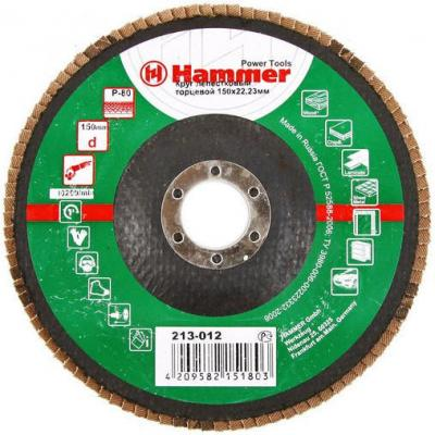 Лепестковый круг 150 Х 22 Р 80 тип 1 КЛТ Hammer Flex 213-012 Круг лепестковый торцевой 125 х 22 р 80 тип 1 клт hammer flex 213 009 круг лепестковый торцевой
