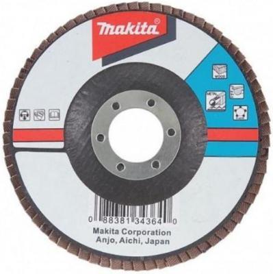 Круг лепестковый MAKITA D-27159 180 X 22, K80 диск makita d 27159 a80 шлифовальный для стали цветных металлов пластика и дерева 180x22 2mm