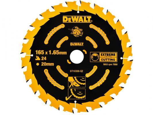 Круг пильный твердосплавный DeWALT DT10300-QZ по дереву EXTREME DEWALT® 165/20 1.65 24 WZ +18° пильный диск extreme по дереву 165 20 1 6 2 0 48 wz 5° dewalt dt1090 qz dt1090 qz