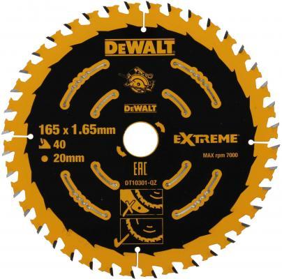 Круг пильный твердосплавный DeWALT DT10301-QZ по дереву EXTREME DEWALT® 165/20 1.65 40 WZ +18° пильный диск extreme по дереву 165 20 1 6 2 0 48 wz 5° dewalt dt1090 qz dt1090 qz