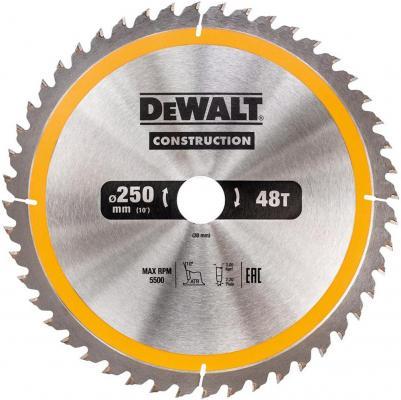 Круг пильный твердосплавный DEWALT DT1945-QZ Ф190/30 40 ATB +10° CONSTRUCTION по дереву с гвоздями пильный диск construct 216х30 мм 24 atb dewalt dt1952