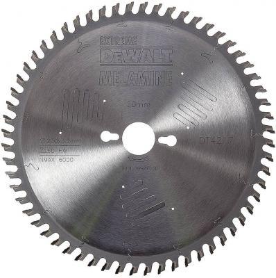 Круг пильный твердосплавный DEWALT DT4217-QZ Ф250/30 60 HZ 10° EXTREME по ламинату диск пильный твердосплавный dewalt dt10302qz
