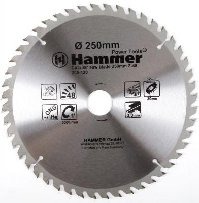 Диск пильный Hammer Flex 205-120 CSB WD 250мм*48*32/30мм по дереву киржачский мз йогурт клубника земляника слоеный 130 г