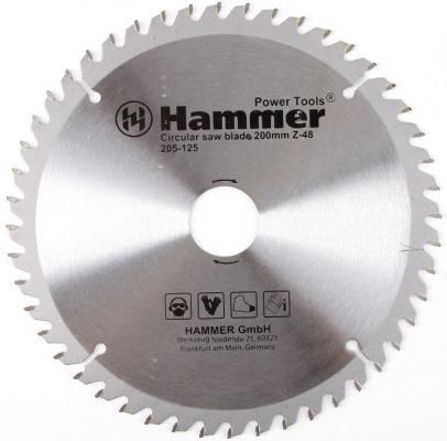 Диск пильный Hammer Flex 205-125 CSB WD 200мм*48*32/30мм по дереву цена 2017
