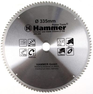 Диск пильный Hammer Flex 205-209 CSB PL 335мм*100*30мм по ламинату цена 2017