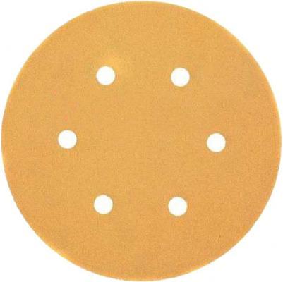 Круг фибровый DeWALT DT3131-QZ для эксц.шлифмашин, 150мм, 6 отв., 40G, 25шт. круг шлифовальный metabo 150мм р120 6 отв 25шт 624023000
