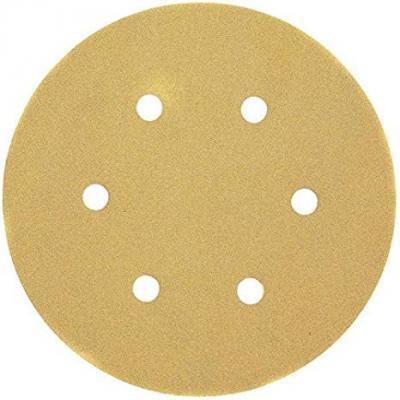 Круг фибровый DeWALT DT3135-QZ для эксц.шлифмашин, 150мм, 6 отв., 120G, 25шт. круг шлифовальный metabo 150мм р120 6 отв 25шт 624023000
