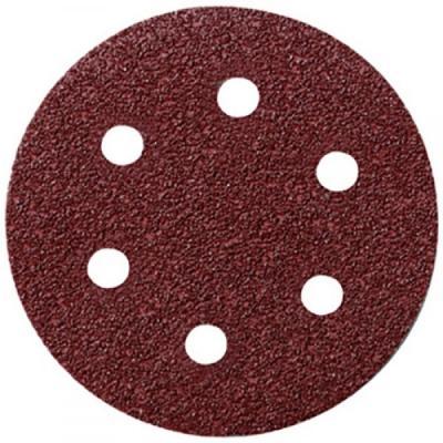 Круг шлифовальный FIT 39662 с отверстиями 5шт алюм.-оксид. 125мм с липучкой (р40) диск шлифовальный с липучкой р40 d 125 мм 5 шт перфорированный bosch профи