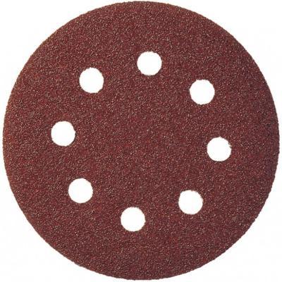 Круг шлиф. цепл. KLINGSPOR PS 18 EK 125 P80 (270392) древесина, пластмассы, 8отв. (GLS 5)