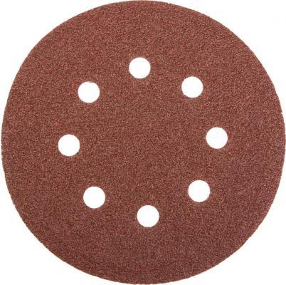 Круг фибровый STAYER MASTER 35452-125-060 8 отверстий велкро P60 125мм 5шт.