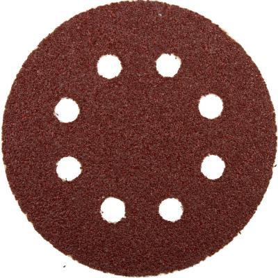 Круг шлифовальный ЗУБР 35562-125-060 МАСТЕР велкро 8отверстий P60 125мм 5шт. цена