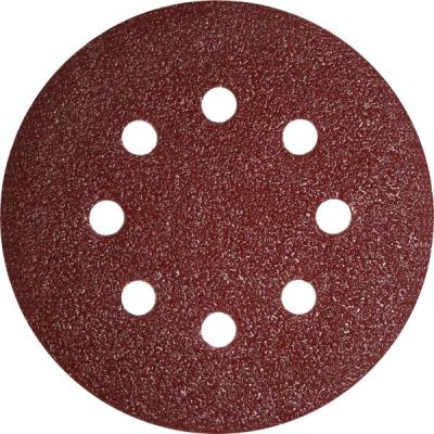 Круг фибровый (цеплялка) ПРАКТИКА 031-488 125мм 8отв. Р40 5шт.