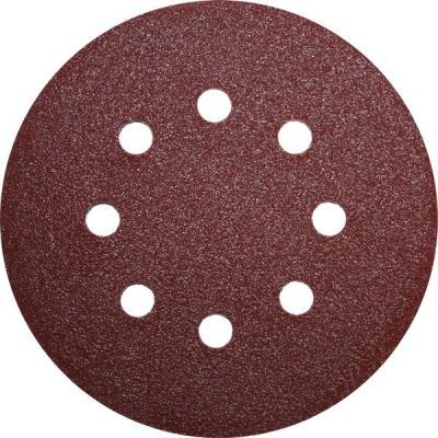 Круг фибровый (цеплялка) ПРАКТИКА 031-525 125мм 8отв. Р180 5шт.