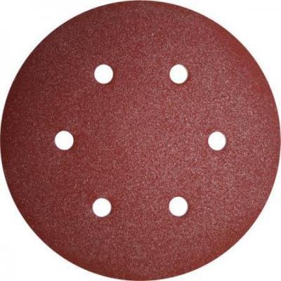 Круг фибровый (цеплялка) ПРАКТИКА 031-563 150мм 6отв. Р80 5шт.