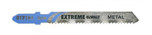 Пилка д/лобзика DEWALT DT2154-QZ п/мет. BIM EXTREME. 76x51x1.8x6 мм, T118BF 3шт пилка для лобзика по алюминию xpc bim 100x75x3 0x30 3шт dewalt dt2221 qz dt2221 qz
