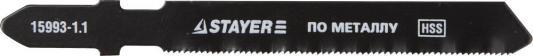 Пилки для лобзика STAYER PROFI 15993-1.1_z01 HSS по металлу 0.5-1.5мм шаг1.1мм 50мм 2шт. пилки для электролобзика stayer profi 15992 1 3 z01