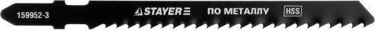 Пилки для лобзика STAYER PROFI 159952-3_z01 HSS по мягкому металлу 3-15мм EU-хвост. 2шт. пилки для лобзика stayer profi 15998 1 4