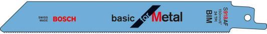 Полотно для сабельной пилы BOSCH S 918 AF (2.608.651.944) металл, 2шт. полотно для сабельной пилы bosch s 918 bf 2 608 651 821 металл 2шт