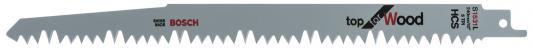Полотно для сабельной пилы BOSCH S 1531 L (2.608.650.613) дерево, 240мм, HCS, 5зуб/дюйм, 2шт. полотно для сабельной пилы metabo 631120000 s644d 2шт hcs 150x1 25 4 0мм дерево