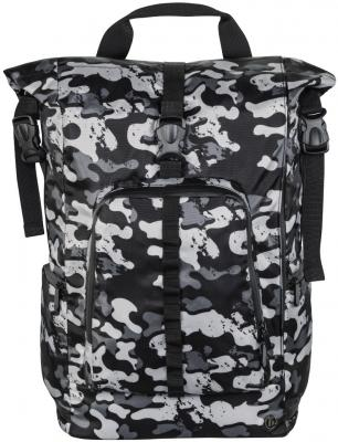 Рюкзак для ноутбука 15.6 HAMA Roll-Top полиэстер серый камуфляж 00101818 рюкзак hama sweet owl pink blue