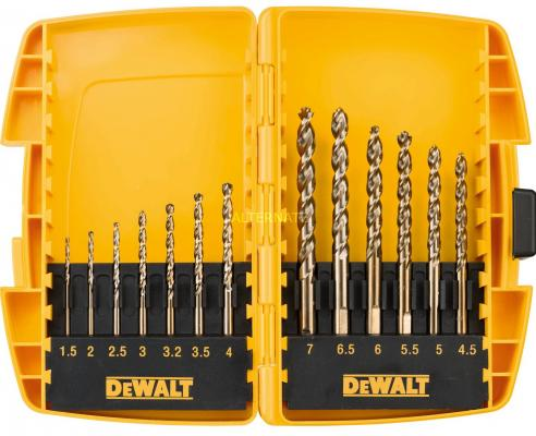 Набор сверл DeWALT DT7920B-QZ по металлу EXTREME DEWALT® 2 HSS-G (13шт.) в боксе Minisafe набор сверл dewalt dt4904 qz 2 шт по металлу