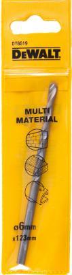 Сверло DeWALT DT6519-QZ универсальное, multimaterial, 6x123x93мм