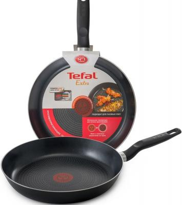 Набор сковородок Tefal Extra 04165810 2 предмета (9100026877) набор сковородок tefal hard titanium c6929072 21 28см 2 предмета 2100097995