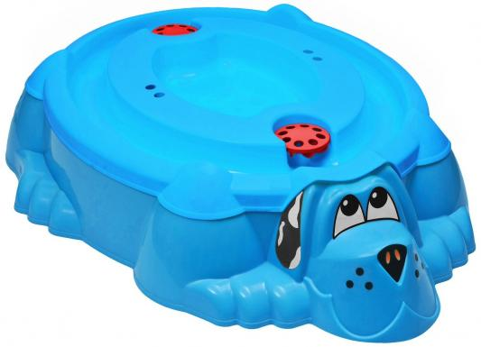 Песочница-бассейн - Собачка с крышкой (голубой)