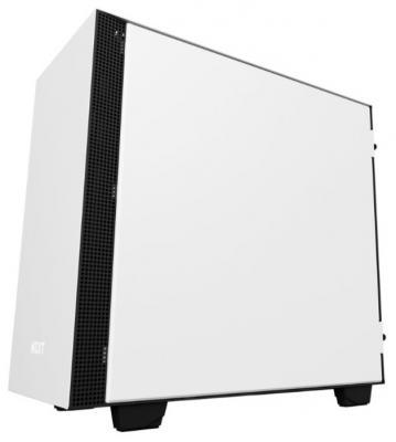 Корпус microATX NZXT H400I Без БП белый CA-H400W-WB