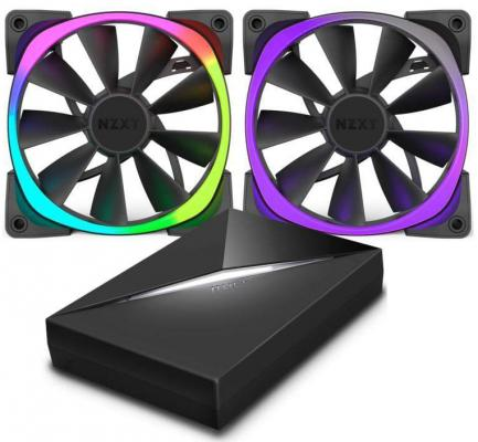 Вентилятор NZXT Aer RGB 120 & HUE+ 3 IN 1 RF-AR120-C1 120x120x25mm 500-1500rpm