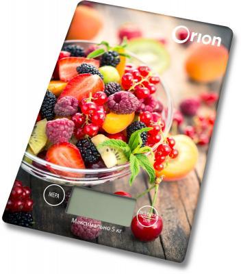 Весы кухонные Orion ВБК-СП02-5КГ рисунок