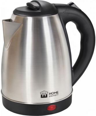 Чайник HOME ELEMENT HE-KT183 1500 Вт серебристый чёрный 1.7 л нержавеющая сталь