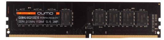 Оперативная память 8Gb PC4-17000 2133MHz DDR4 DIMM QUMO QUM4U-8G2133CC15