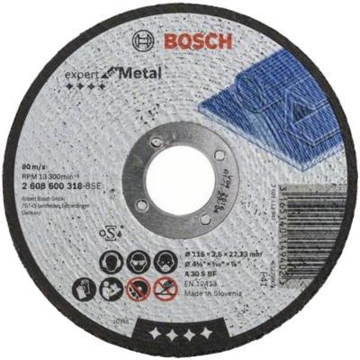 Отрезной круг Bosch 115х2.5мм 2608600318