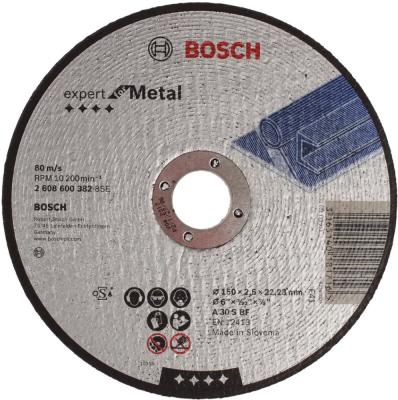 Отрезной круг Bosch 150х2.5мм 2608600382 круг отрезной bosch по камню 125x22x2 5
