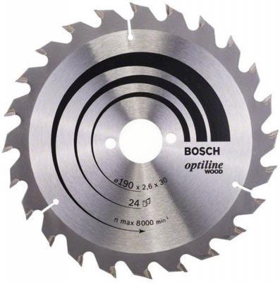 цены Пильный диск Bosch STD WO 190x30-24T 2608640615