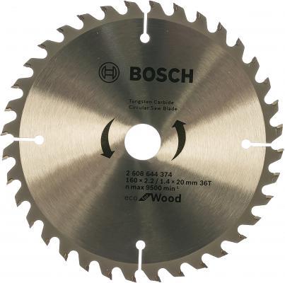 Пильный диск Bosch ECO WO 160x20/16-36T 2608644374 bosch 2608644380 пильный диск eco wo 200x32 48t