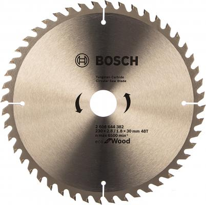 Диск пильный Bosch ECO WOOD 230 ммx30 мм 48зуб 2608644382 пильный диск bosch eco for wood 2608644383 254х30 мм