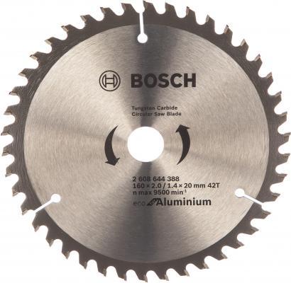 Диск пильный Bosch ECO AL 160 ммx20 мм 42зуб 2608644388 диск пильный bosch eco wood 190 ммx20 мм 48зуб 2608644378