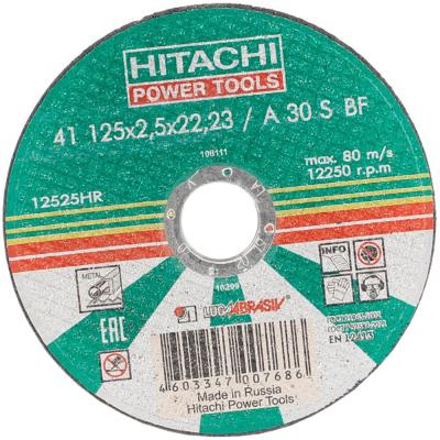 Фото - Круг отрезной Hitachi 12525HR A24 (14A) 125x2.5x22 двухкамерный холодильник hitachi r vg 472 pu3 gbw