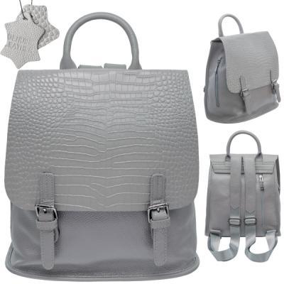 Фото - Рюкзак-мини FLAVIO FERRUCCI, молодежный, серый,фурнитура-пушечный металл, н/кожа, 28.5x21x10 см, фурнитура