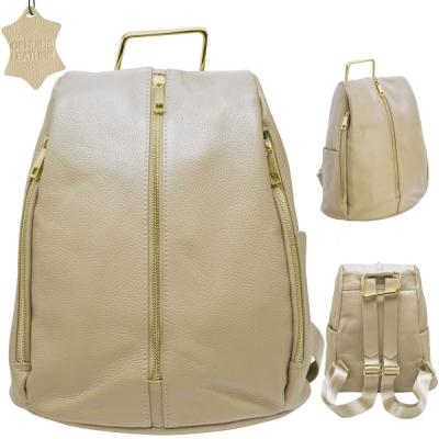 Рюкзак-мини FLAVIO FERRUCCI, молодежный, кофе с молоком, фурнитура-золотистая, н/кожа, р.30x23x10 см