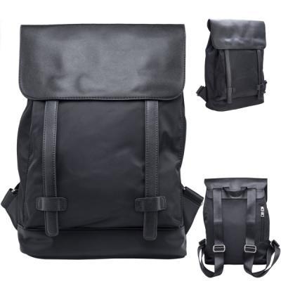 Рюкзак ACTION, молодежный,  разм. 40х30х10 см, черный, нейлон+иск.кожа