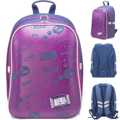 Купить Рюкзак светоотражающие материалы Action! AP-ASB4614/1/18 фиолетовый синий AP-ASB4614/1/18, синий, фиолетовый, н/д, Ранцы, рюкзаки и сумки
