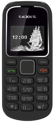 Мобильный телефон Texet TM-121 черный мобильный телефон texet tm 501 черный