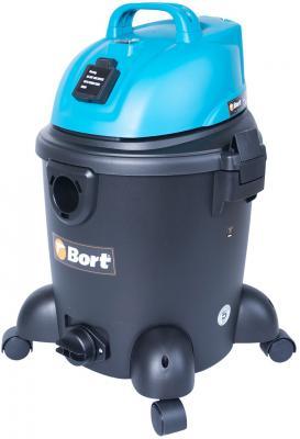 Промышленный пылесос BORT BSS-1220 сухая влажная уборка синий чёрный промышленный пылесос dewalt dwv 901 l сухая уборка чёрный жёлтый