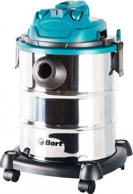 Промышленный пылесос BORT BSS-1325 влажная сухая уборка синий чёрный промышленный пылесос dewalt dwv 901 l сухая уборка чёрный жёлтый